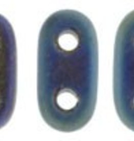 10 GM 2x6mm 2 Hole Bar : Matte Blue Iris (APX 140 PCS)