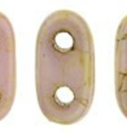 10 GM 2x6mm 2 Hole Bar : Opaque Rose Luster (APX 140 PCS)