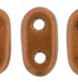 10 GM 2x6mm 2 Hole Bar : Matte Metallic Antique Copper (APX 140 PCS)