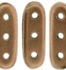 10 GM 3x10mm 3 Hole Beam : Matte Metallic Bronze Copper (APX 65 PCS)