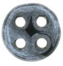10 GM 6mm QuadraLentil : Hematite (APX 90 PCS)