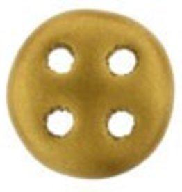 10 GM 6mm QuadraLentil : Matte Metallic Antique Gold (APX 90 PCS)