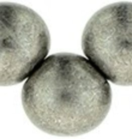 25 PC 6mm Top Hole Round : Saturated Metallic Sharkskin