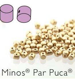 10 GM 2.5x3mm Minos Par Puca : Light Gold Matte (APX 200 PCS)