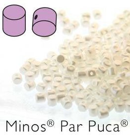 10 GM 2.5x3mm Minos Par Puca : Pastel White (APX 200 PCS)