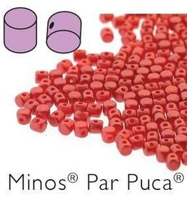 10 GM 2.5x3mm Minos Par Puca : Pastel Dark Coral (APX 200 PCS)