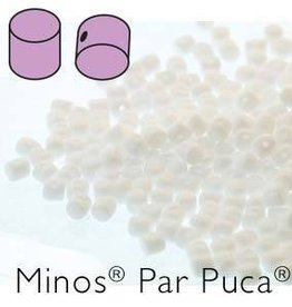 10 GM 2.5x3mm Minos Par Puca : Opaque White (APX 200 PCS)