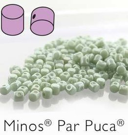 10 GM 2.5x3mm Minos Par Puca : Opaque Light Green Luster (APX 200 PCS)