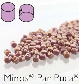 10 GM 2.5x3mm Minos Par Puca : Opaque Violet Gold Luster (APX 200 PCS)