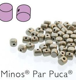 10 GM 2.5x3mm Minos Par Puca : Metallic Matte Beige (APX 200 PCS)