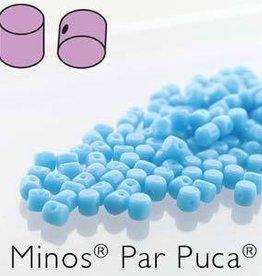 10 GM 2.5x3mm Minos Par Puca : Opaque Turquoise (APX 200 PCS)
