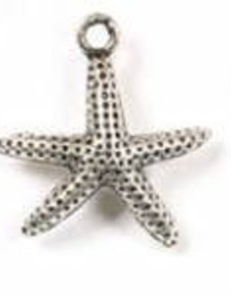 1 PC ASP 21x19mm Starfish Charm