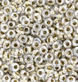 7 GM Toho Demi Round 11/0 : Gold Lined Crystal (APX 1300 PCS)