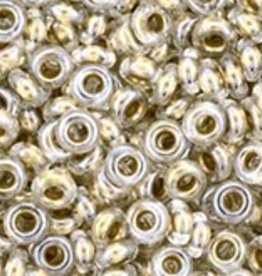 7 GM Toho Demi Round 8/0 : Gold-Lined Crystal (APX 550 PCS)