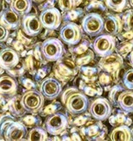 7 GM Toho Demi Round 8/0 : Gold-Lined Rainbow Crystal (APX 550 PCS)