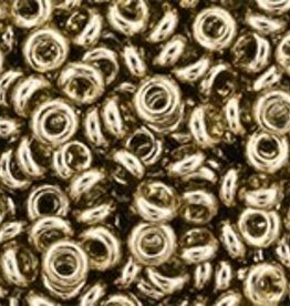 7.4 GM Demi Round 8/0 : Gold-Lustered Montana Blue (APX 590 PCS)