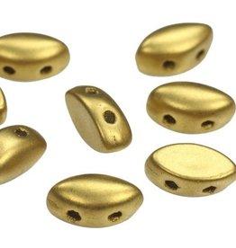 8 GM 7x4mm IrisDuo® Bead : Metallic Olivine (APX 50 PCS)
