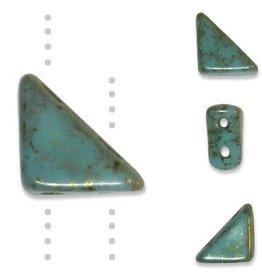 10 GM 8x6mm Tango™ 2 Hole Bead : Turquoise Lumi Pecan (APX 65 PCS)