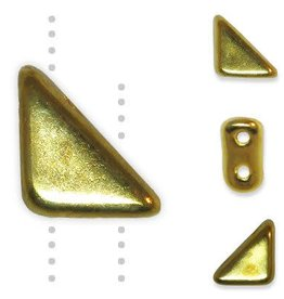 5 GM 8x6mm Tango™ 2 Hole Bead : 24K Gold Full Coat (APX 33 PCS)