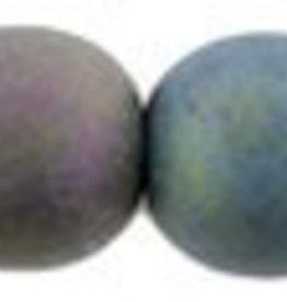 50 PC 6mm Round : Matte Purple Iris