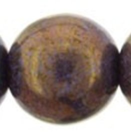 25 PC 8mm Round : Opaque Bronzed Smoke Luster