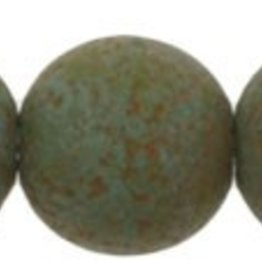 25 PC 8mm Round : Turquoise Stone Picasso
