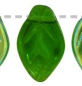 25 PC 7x12mm Leaf : Green AB
