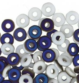 10 GM 3.8x1mm O Bead : Chalk White Azuro Matte (APX 350 PCS)