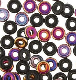 10 GM 3.8x1mm O Bead : Jet Sliperit (APX 350 PCS)