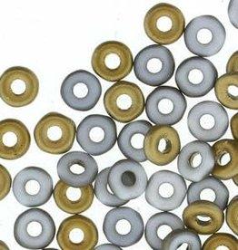 10 GM 3.8x1mm O Bead : Chalk White Amber Matte (APX 350 PCS)