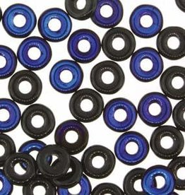 10 GM 3.8x1mm O Bead : Jet Azuro (APX 350 PCS)