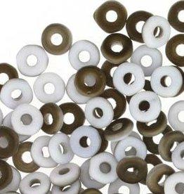 10 GM 3.8x1mm O Bead : Chalk White Valentinite Matte (APX 350 PCS)