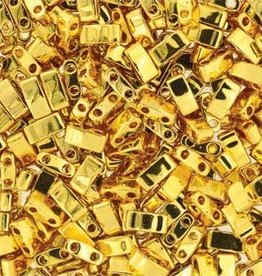 10 GM 5mm Tila 1/2 Cut : 24 Karet Gold Plate (APX 250 PCS)