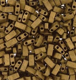 10 GM 5mm Tila 1/2 Cut : Matte Metallic Gold (APX 250 PCS)