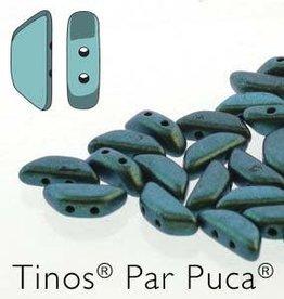 10 GM 4x10mm Tinos Par Puca : Metallic Matte Green Turquoise (APX 50 PCS)