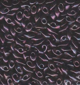10 GM 4x7mm Long Magatama : Metallic Dark Raspberry (APX 80 PCS)