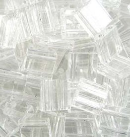 10 GM 5mm Tila Bead : Crystal (APX 110 PCS)