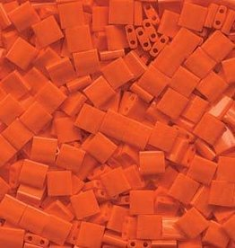 10 GM 5mm Tila Bead : Opaque Orange (APX 110 PCS)