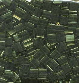 10 GM 5mm Tila Bead : Olive Green Gold Luster (APX 110 PCS)