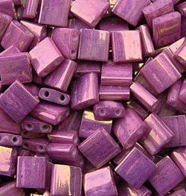 10 GM 5mm Tila Bead : Opaque Dark Orchid Luster (APX 110 PCS)