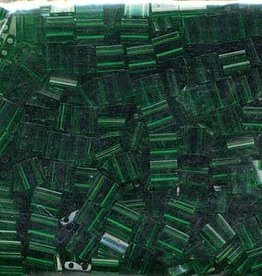 10 GM 5mm Tila Bead : Transparent Green (APX 110 PCS)