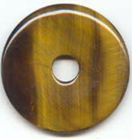 1 PC 50mm Tiger Eye Donut