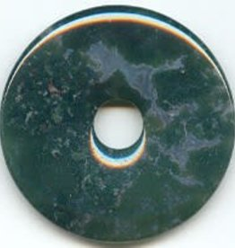 1 PC 40mm Moss Agate Donut