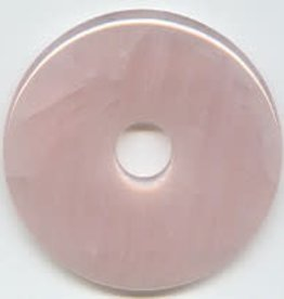 1 PC 40mm Rose Quartz Donut