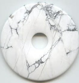 1 PC 40mm White Howlite Donut