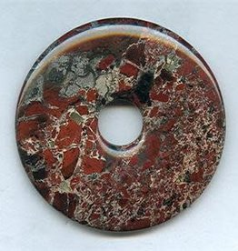 1 PC 40mm Poppy Jasper Donut