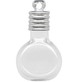 1 PC 25x15mm Glass Bottle Charm : Cognac