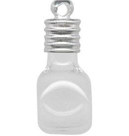1 PC 25x12mm Glass Bottle Charm : Cube