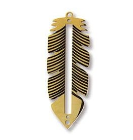 GP 12x32mm Centerline Feather Pendant