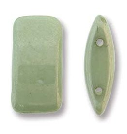 15 PC 9x17mm 2 Hole Carrier Bead : Green Luster